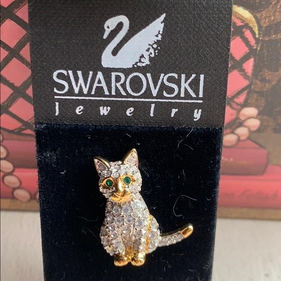 ♦️SOLD♦️SWAROVSKI Crystal Kitten Cat Pin